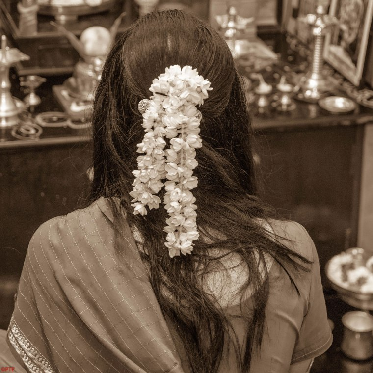 Flower on the hair