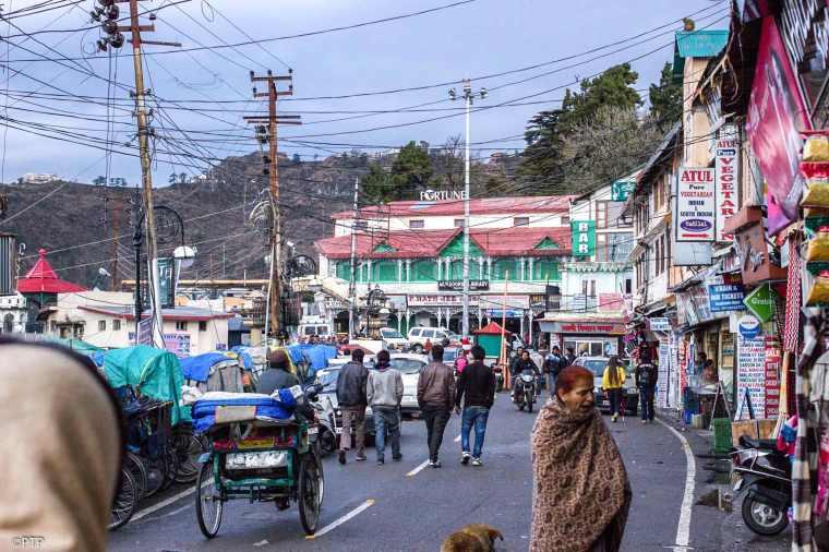 Mal Road,Mussoorie