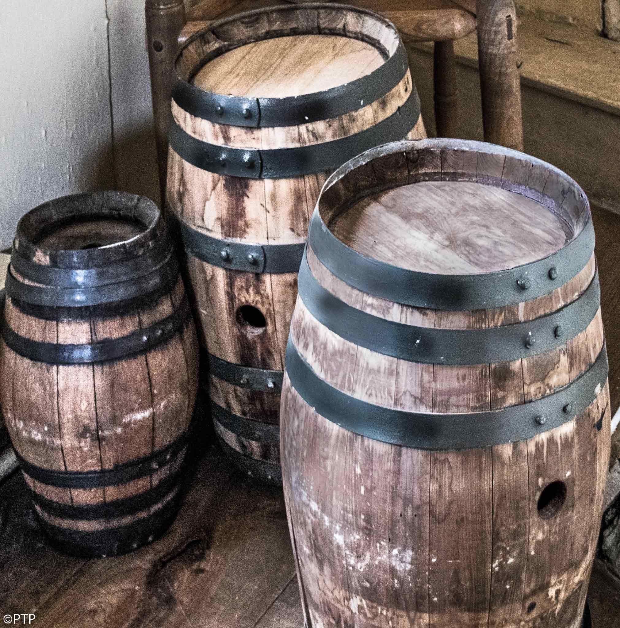 3 barrels