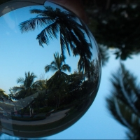 Fan of Lens ball aka Crystal ball photography